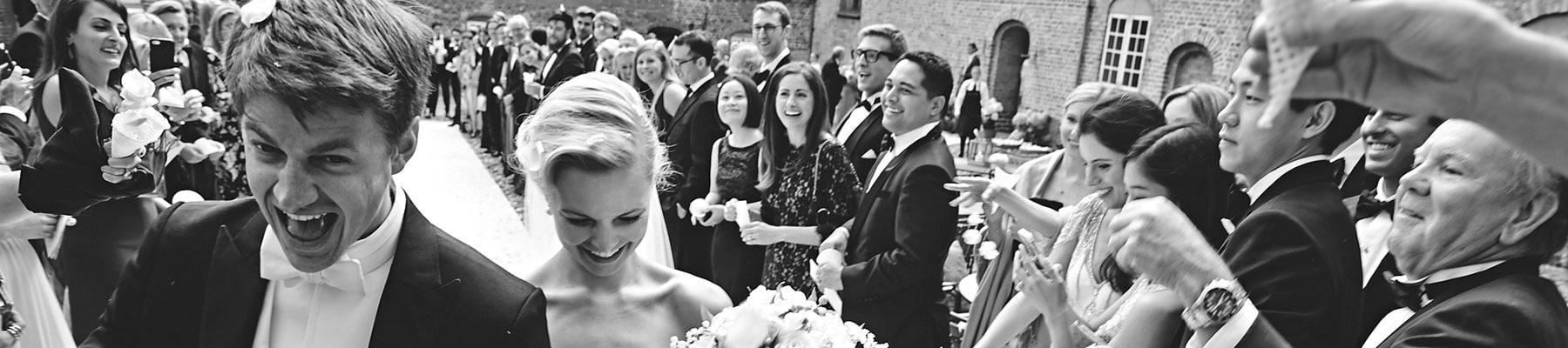 Bryllup på fyn - brudgommen og bruden