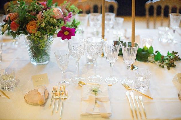Guldbestik til bryllupsbordækning