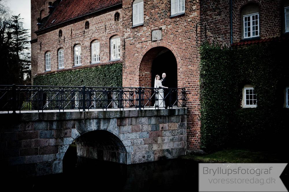 Bryllupsfoto fra Holckenhavn Slot