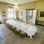 Middagslokale til konferencegæster på Holckenhavn Slot