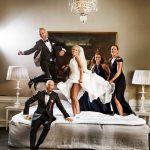 Bryllupsbillede af brudepar på Holckenhavn Slot