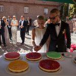 Cheescake til bryllupsreception på Holckenhavn Slot