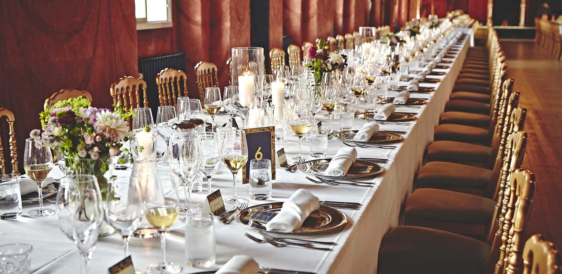 Fest i Riddersalen på Holckenhavn Slot